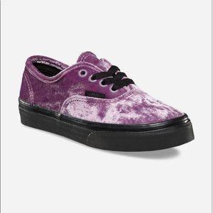 Vans Shoes - NWOB VANS OLD SKOOL CRUSHED PURPLE VELVET GIRLS